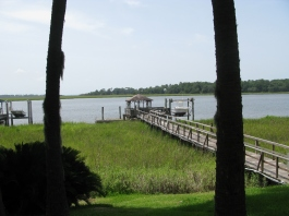 dock as it is today; new boat rack