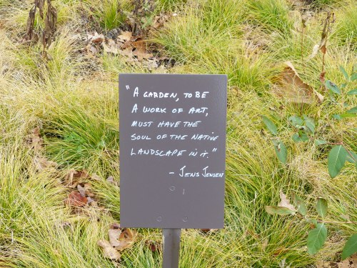 Longwood Meadow Gardens Entrance/Exit - November 2014