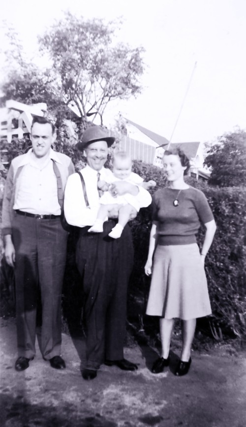 My California Grandpa, Parents and Me - Dec 1944 - I'm 1 year old.