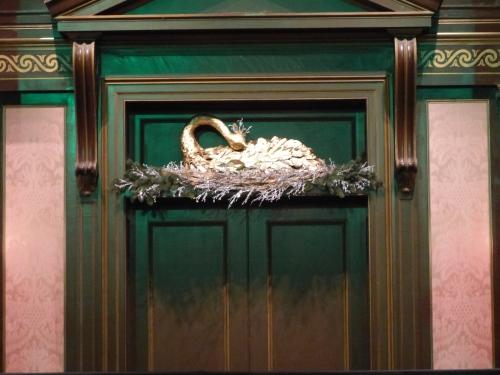 Christmas Swan above front door in Conservatory auditorium/concert hall