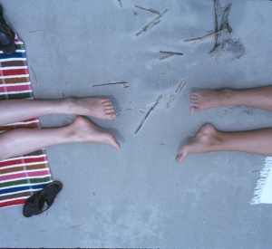 1967 Jun Legs at the Beach Diane and Elouise