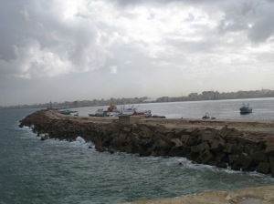 Alexandria Library from Qaitbay wall 3627
