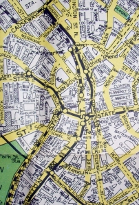~~~Boston Street Map 1960s