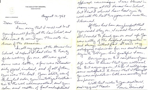 Griswold Letter to ERF