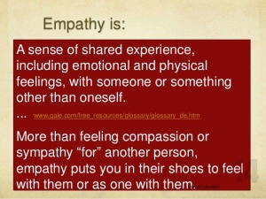 Empathy, sympathy, compassion compared