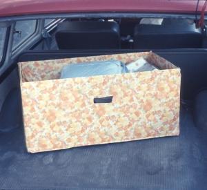 1968 Sept, Scott's Box in the VW
