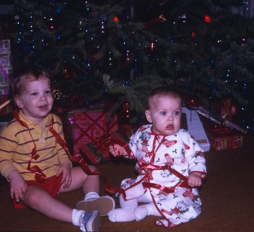 1970 Christmas the joy of ribbons Scott and Sherry