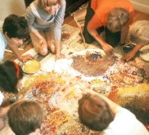1970 the big fingerpaint project with Diane Renich and friends 2