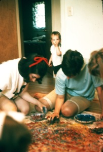 1970 the big fingerpaint project with Diane Renich and friends