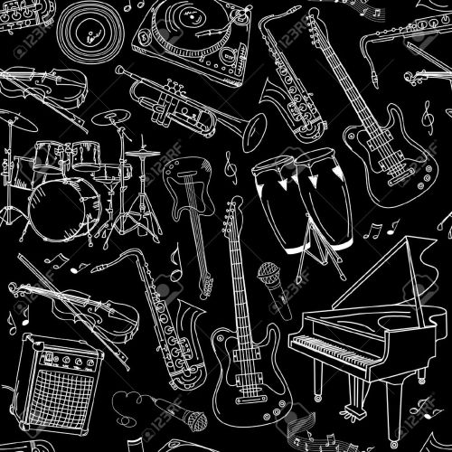 Jazz-music-seamless-pattern--Stock-Vector-jazz-pattern-guitar