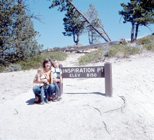 1972 Jan Bryce Canyon David Sherry and Scott