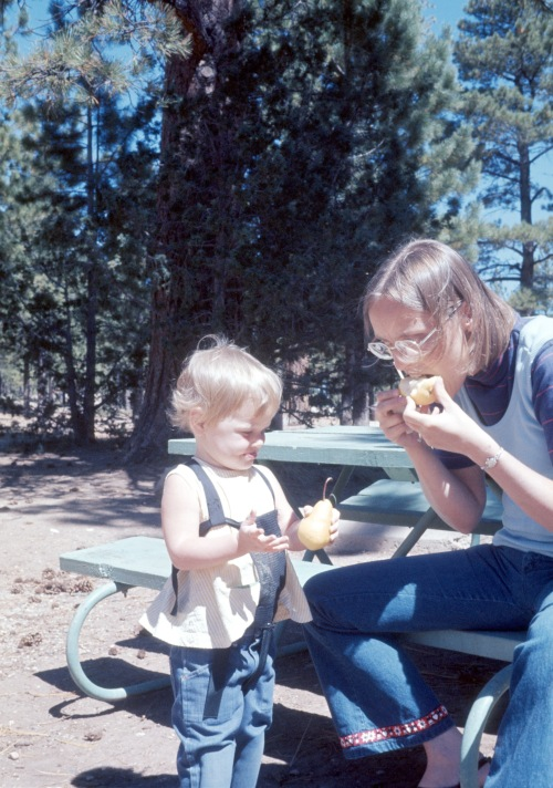 1972 Jan Bryce Canyon Elouise and Sherry to pear or not to pear