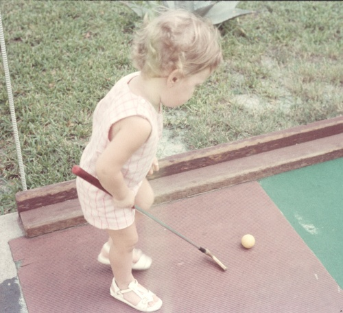 1972 Aug Miniture golf Sherry at it