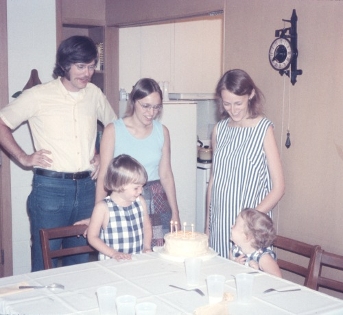 1972 Scott B-day 4 years old with Diane