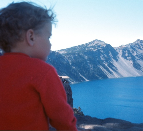 1973 Jul Crater Lake Sherry gazing