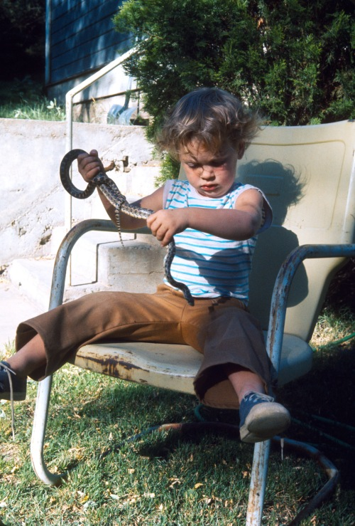1973 Jul Sherry learning what to do with a snake