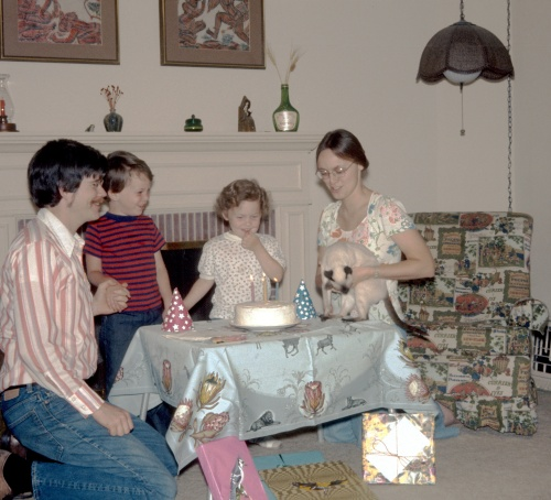 1974 May Sherry's 4th Birthday in Altadena 2