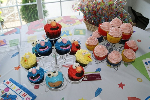 Sesame Street 2nd BDay Cupcakes