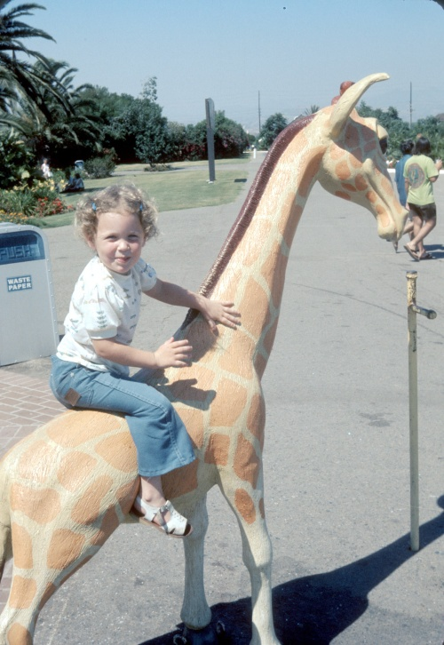 1974-5 Aug Sherry on the reluctant giraffe