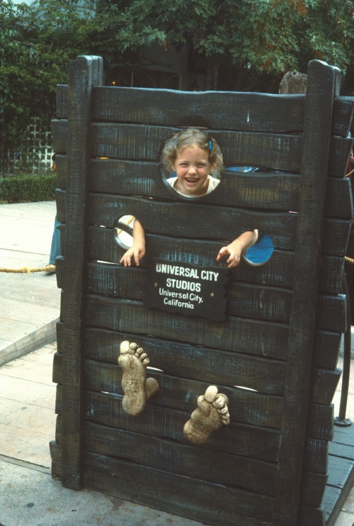 1974-5 Sherry in the stocks at Universal Studios ND