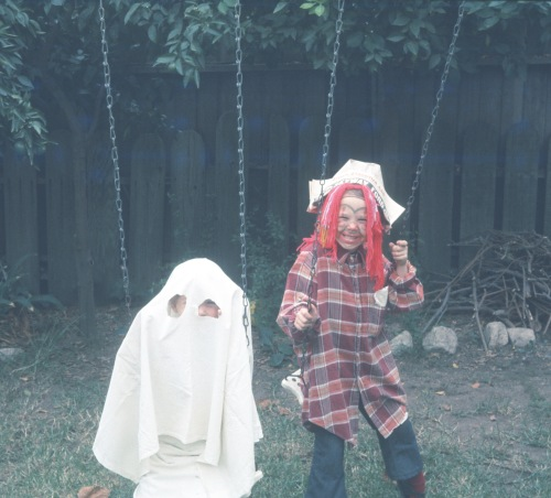 1974 Halloween Ghost Sherry and Pirate Scott