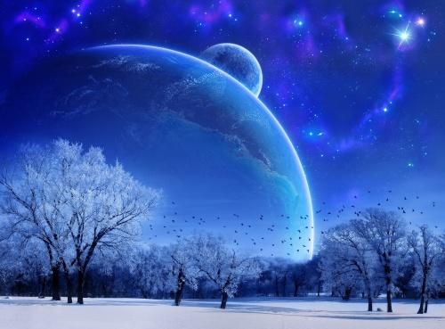 Winter Night Sky, c194e70b2bb102854731a6a4f9ff98e8