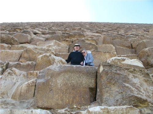 David and Elouise on Giza pyramid