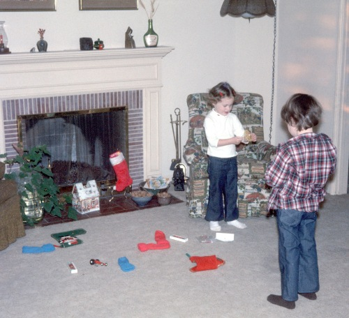 1974 Christmas Altadena Stocking stuffers Sherry and Scott