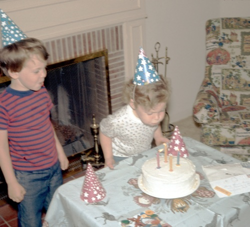 1974 May Sherry's 4th Birthday in Altadena