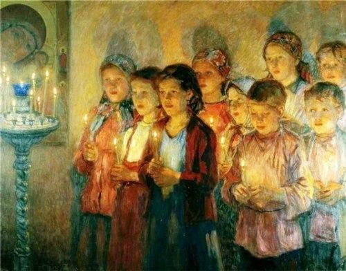 children-praying-church