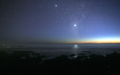 Night Sky and Pacific