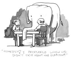 Elephant in the room cartoon