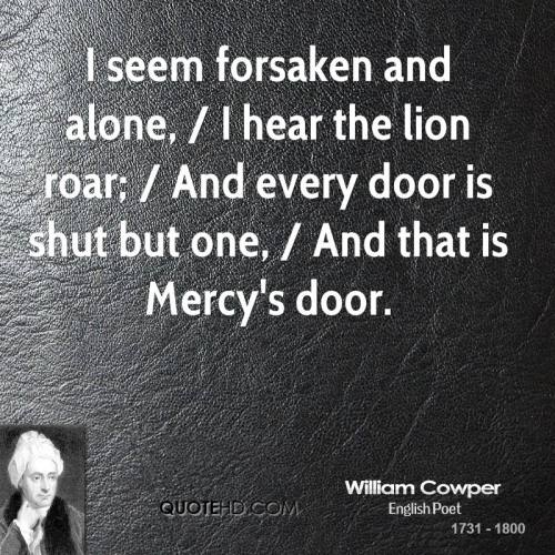 william-cowper-quote-i-seem-forsaken