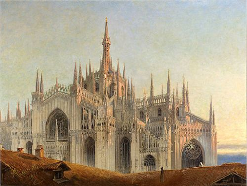 Emilio Magistretti, il Duomo, General exterior view from the east, 1921.